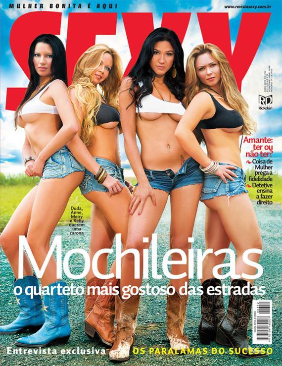 As gostosas Mochileiras nuas na revista Sexy
