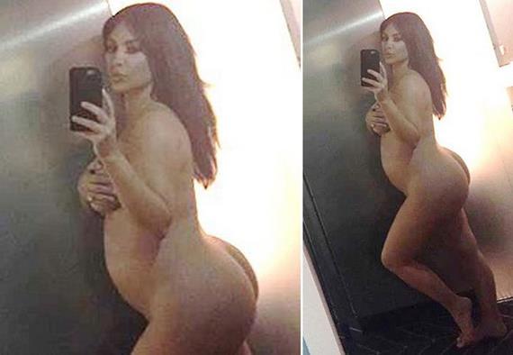 Kim Kardashian nua caiu na net