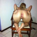 Fotos amadoras da loira rabuda de quatro mostrando o cuzinho e buceta